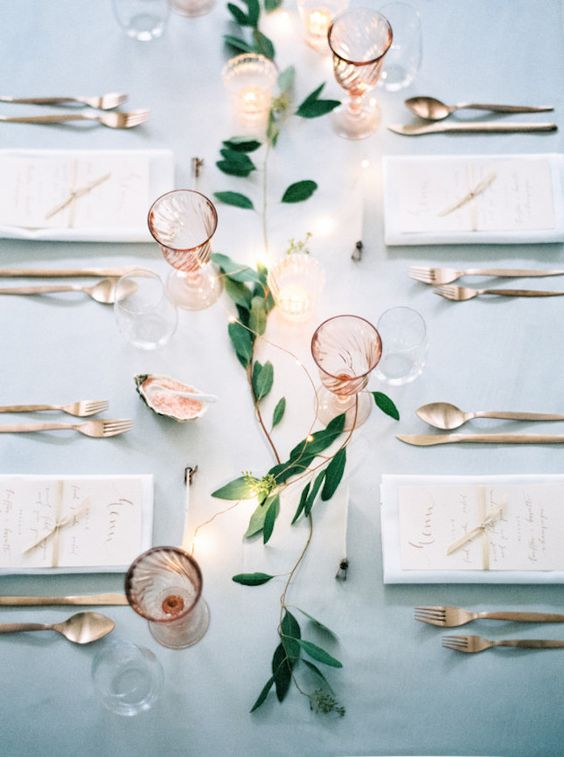 Minimalist Wedding Table