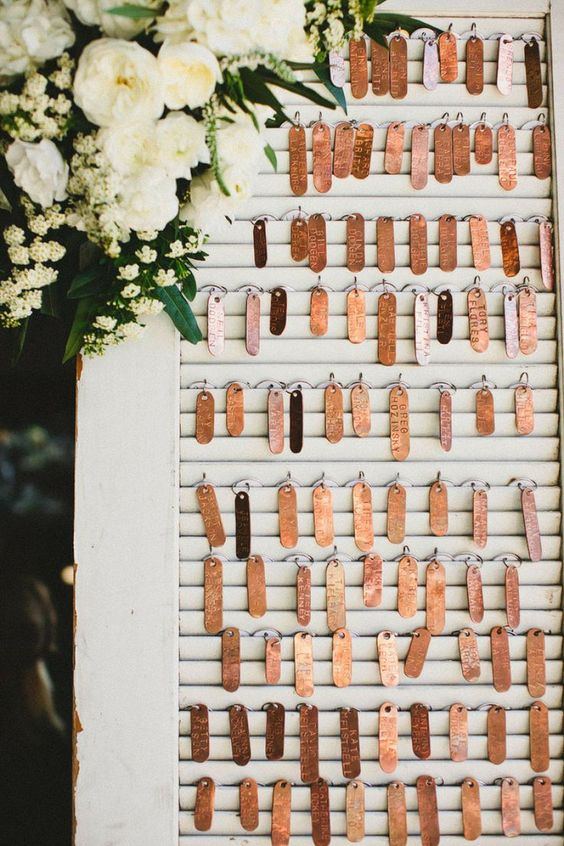 Copper Seating Tags
