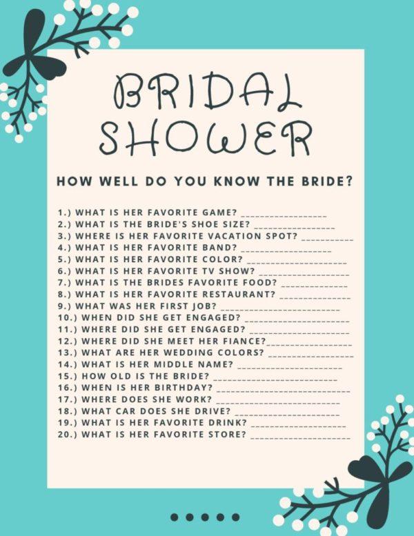 Bridal shower download