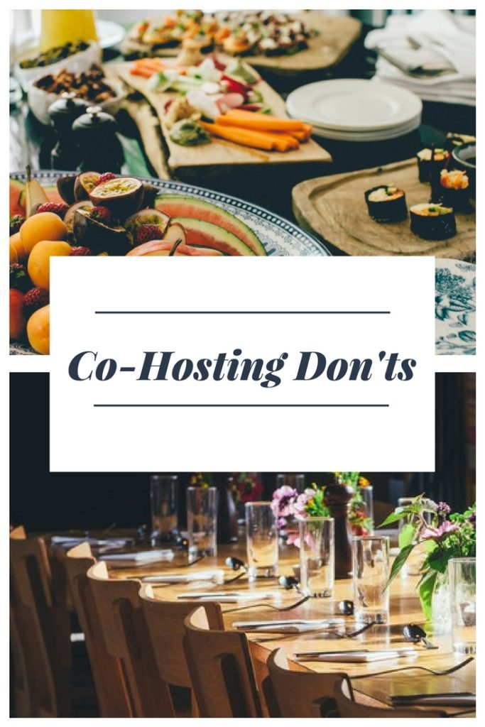 Co-hosting Don'ts