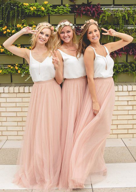 Maxi-skirt bridesmaid dress