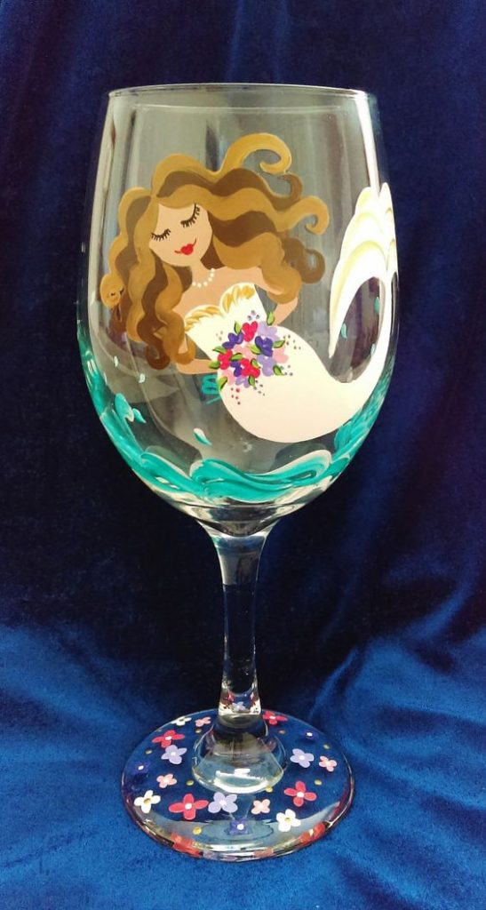Have your guests decorate a wine glass and take them home as bridal shower favors.