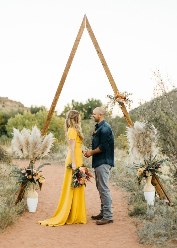 Yellow Wedding dresses are the perfect choice for a non-white wedding dress.