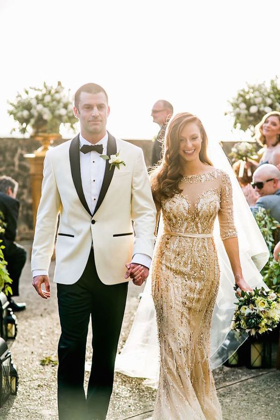Shine on your wedding day with this non-white wedding dress!