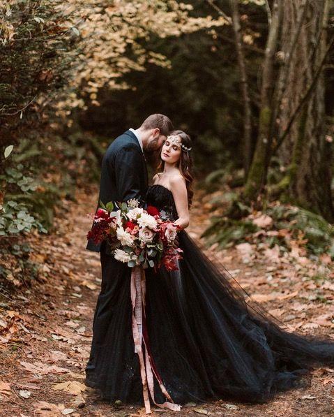 Dark Black, Non-white wedding dress for the bold bride.