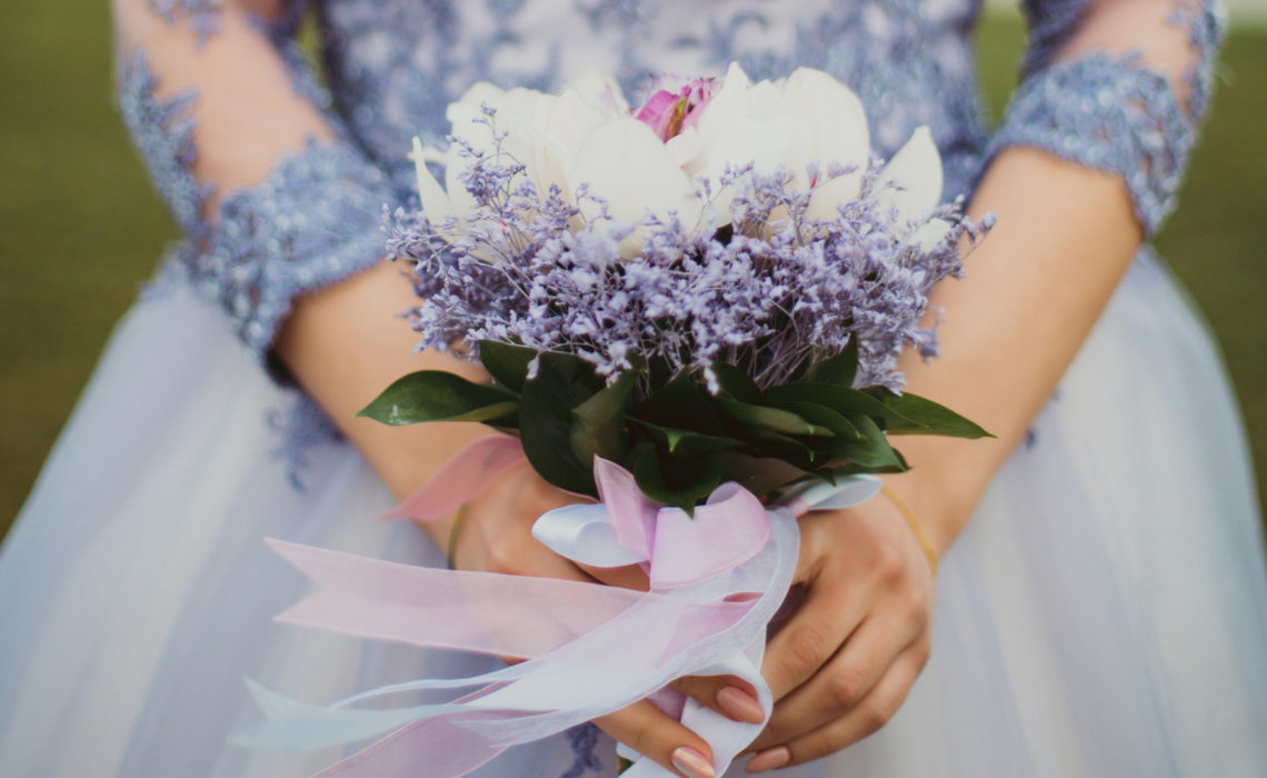 8 Non-White Wedding Dresses for the Bold Bride