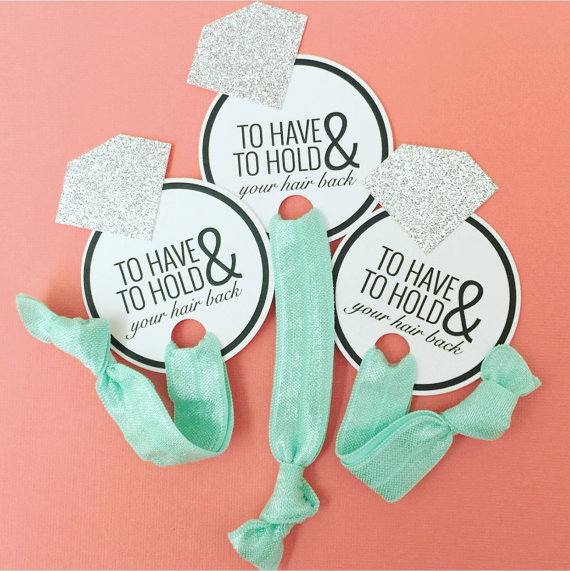To Have and To Hold Your Hair Back Bridal Shower Favors