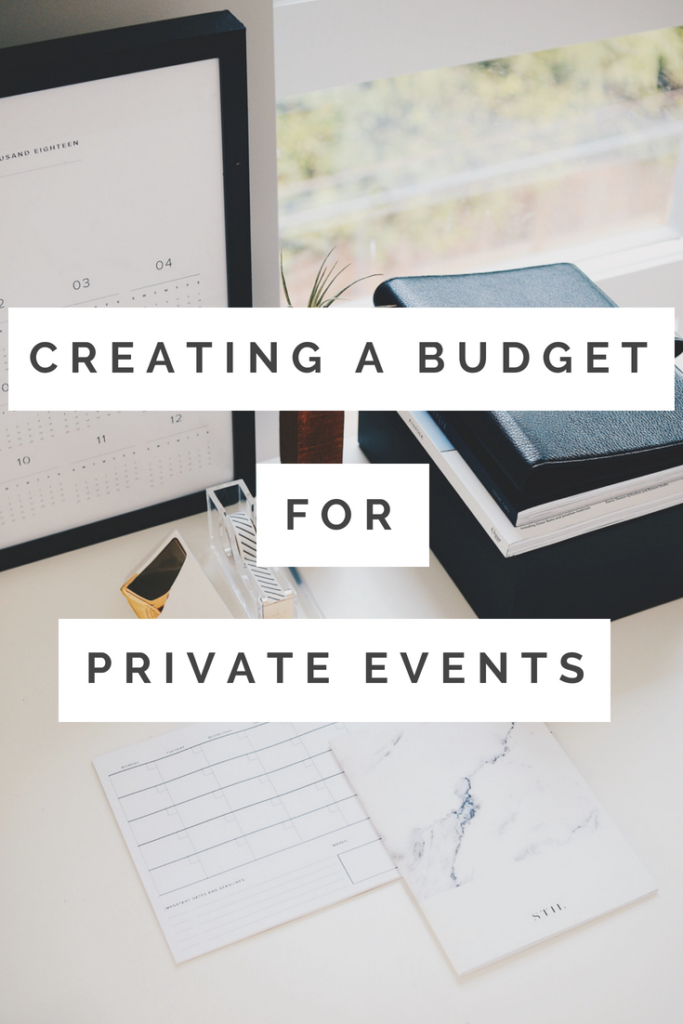 Creating a Budget for Your Private Event