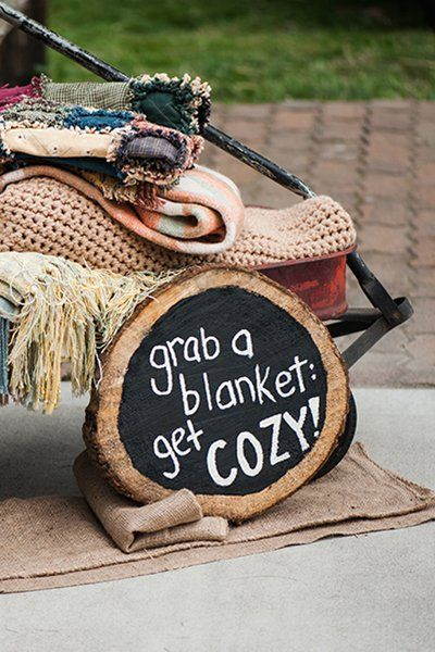 Hosting a fall wedding and looking to keep your bridesmaids warm? Gift them with cozy blankets!