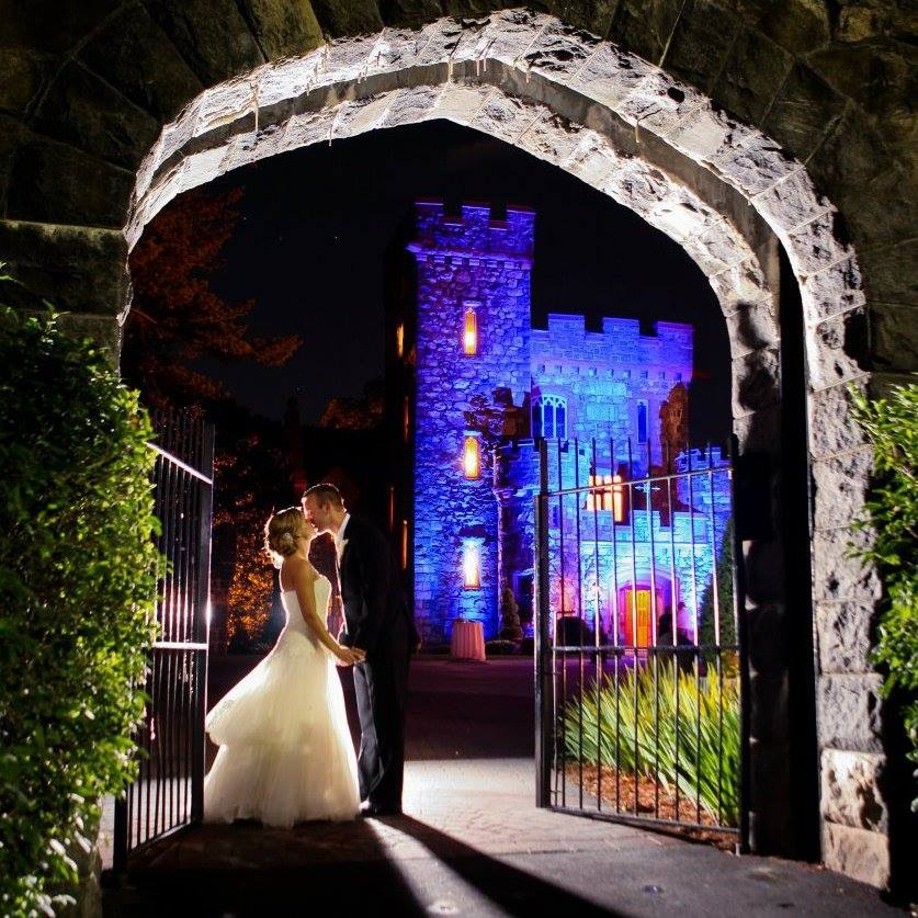 Beautiful fall wedding at Searles Castle in NH.