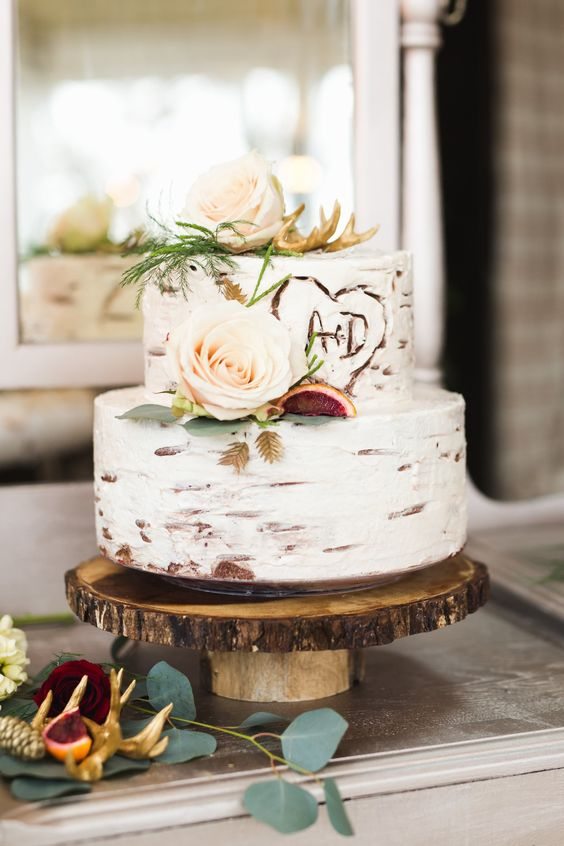 10 Rustic Wedding Cakes for Romantic Fall Weddings - Cheers and ...