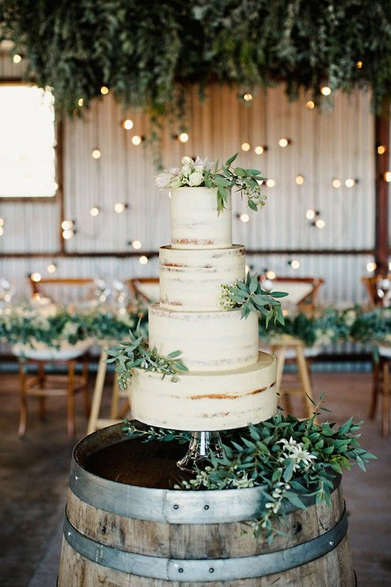 Fall Rustic Wedding Cake