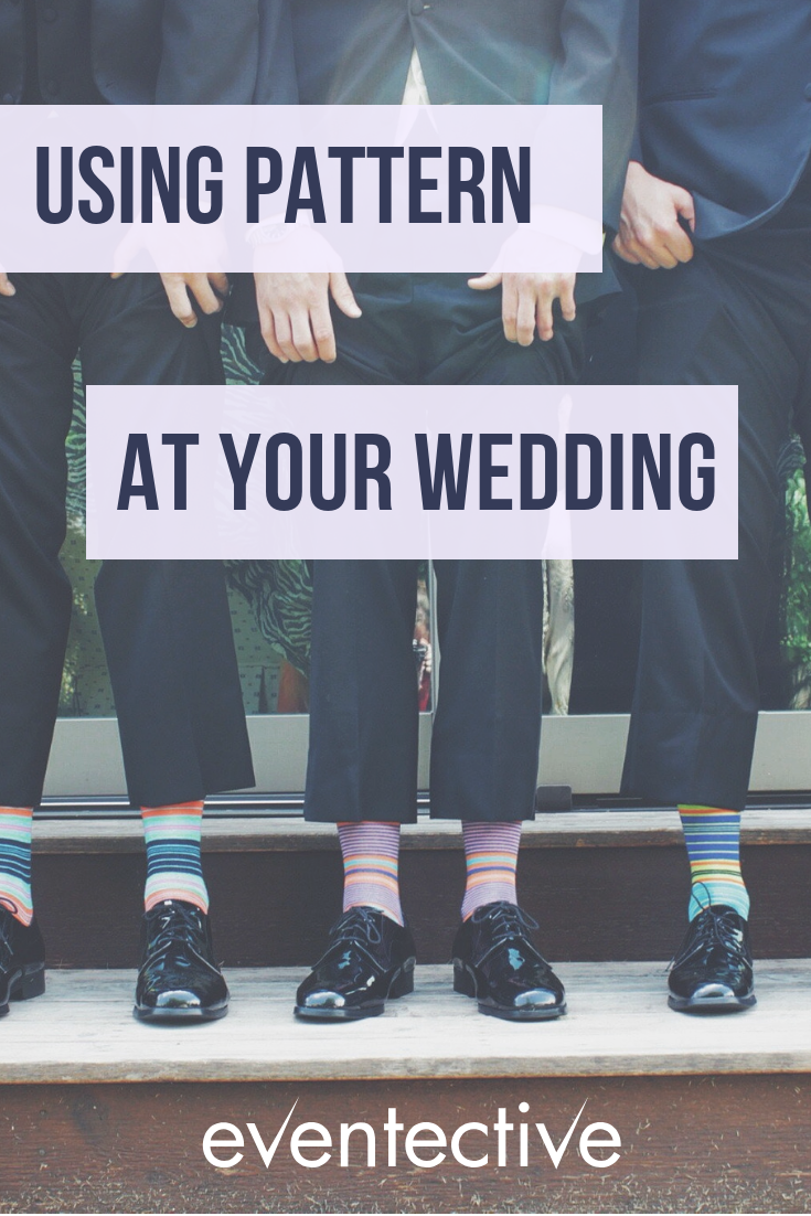Use pattern at your wedding with groomsmen socks