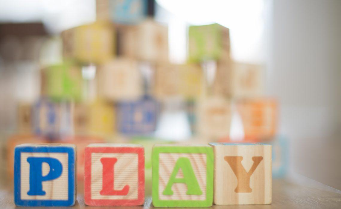 Blocks for baby shower present