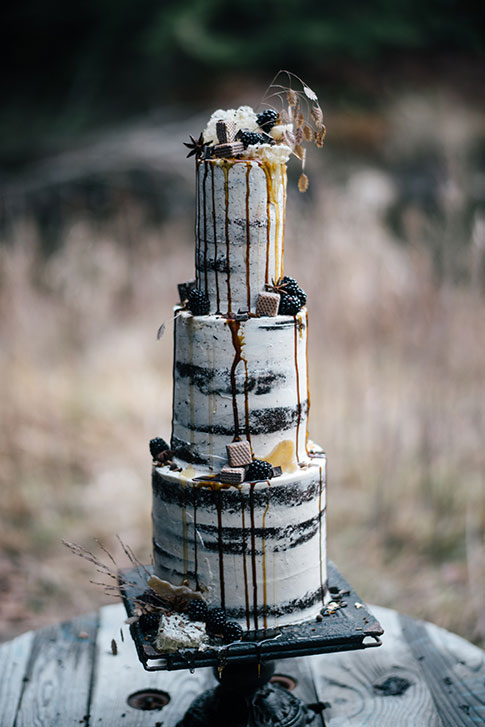 Bentley's Bakery and Cafe Birch Tree Wedding Cake