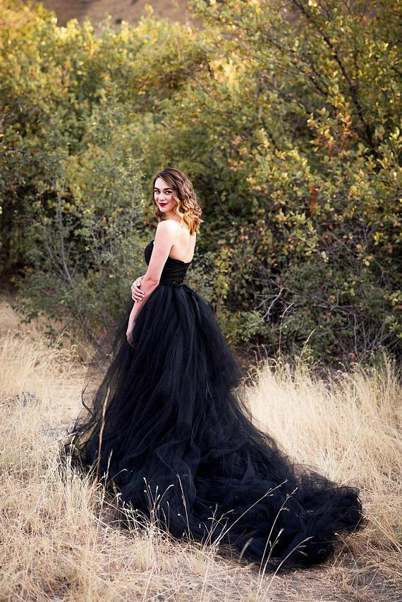 Black Wedding Dress Amy Prom