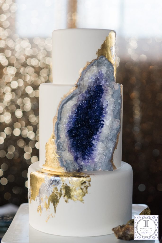 Intricate Icings Geode Wedding Cake