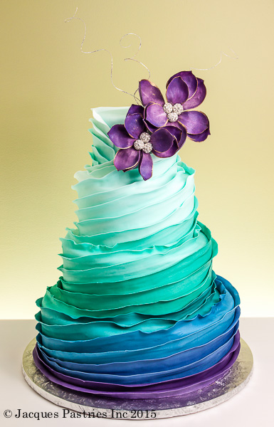 Jacques Fine European Pastries Ombre Wedding Cake