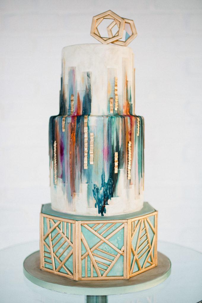 Olofson Design Urban Geometric Wedding Cake