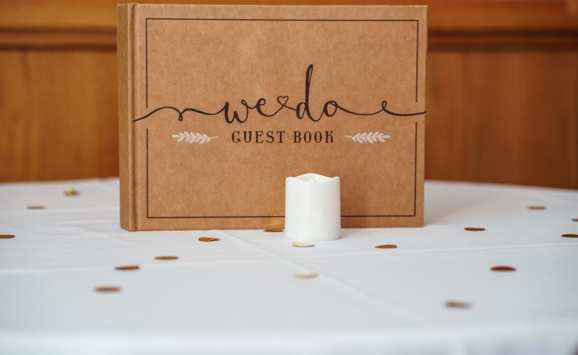 Guest Book on Table