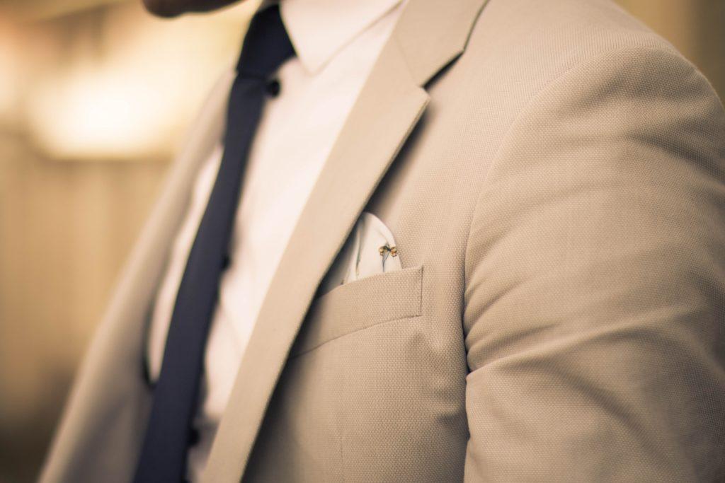 Man Wearing Something Blue Tie