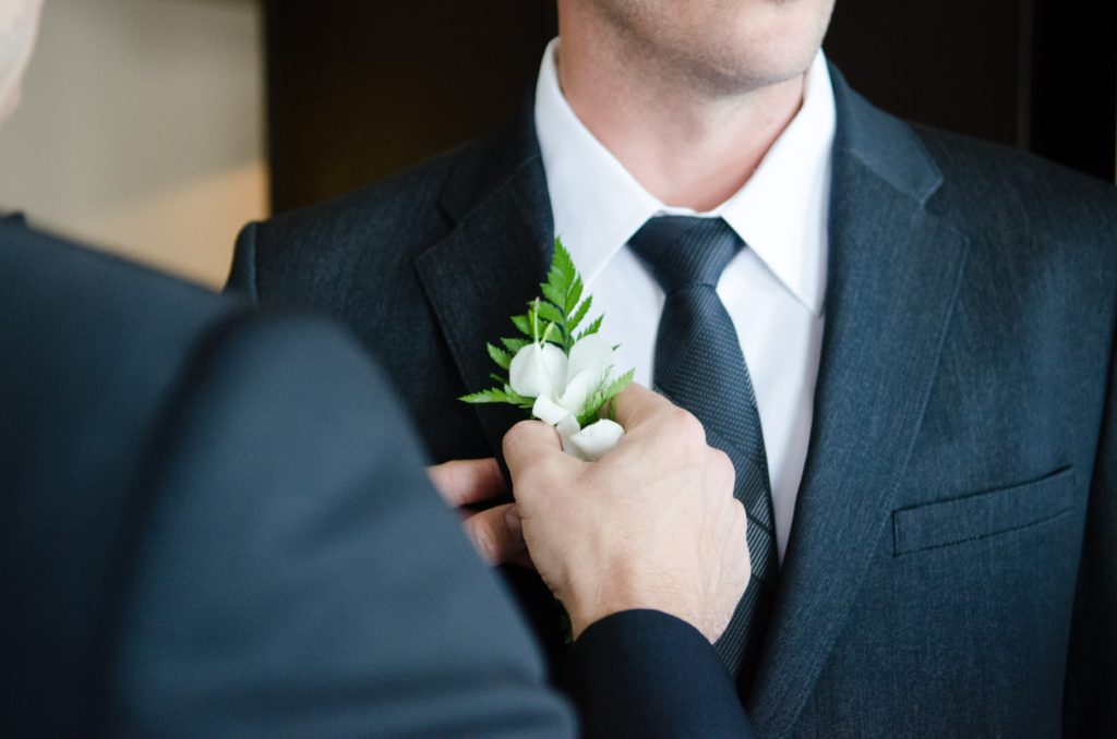 Best Man Flower Lapel