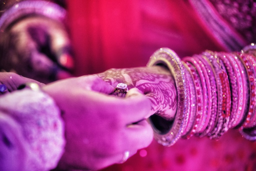 Indian Couple Exchanging Rings