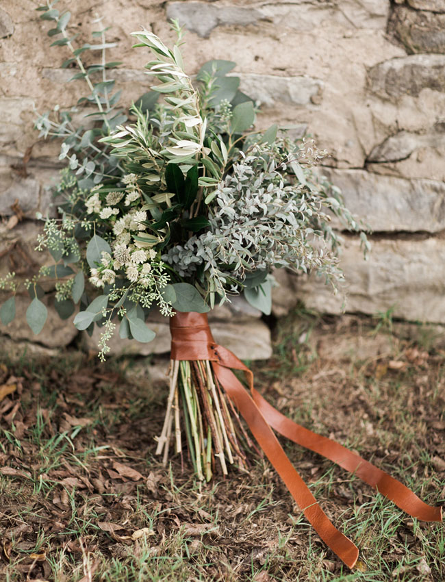 Leather Bouquet Wrap