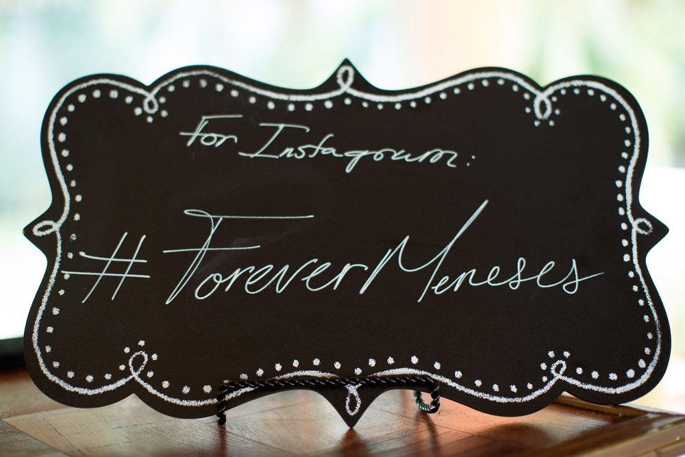 Wedding Hashtag Chalkboard