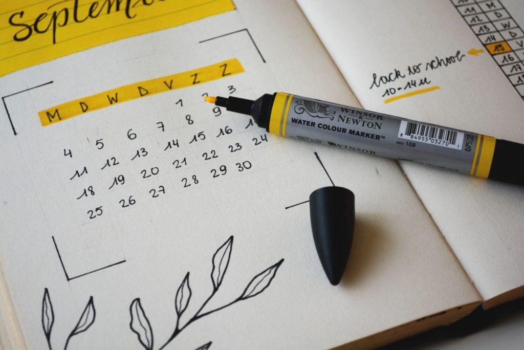 Organization Tip Use Calendar
