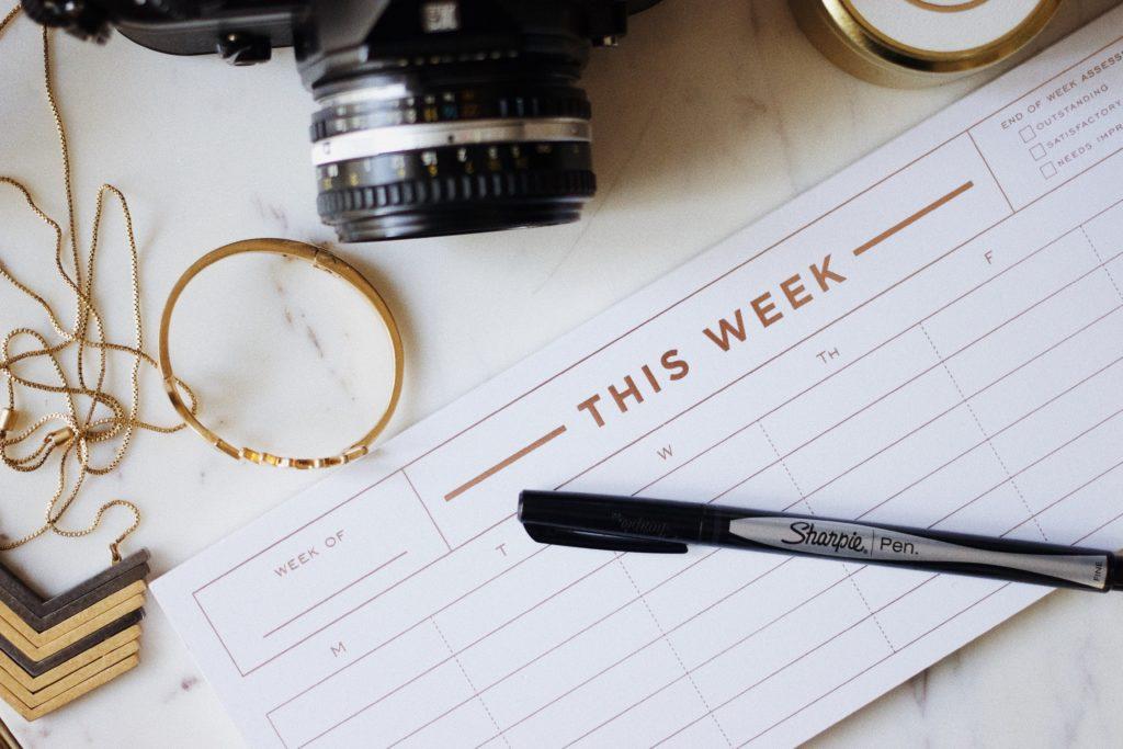 Organization Tip Set Weekly Task List