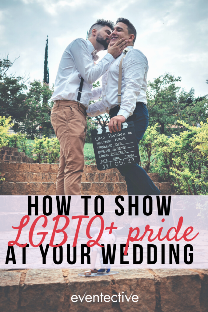 show your LGBTQ+ pride at your wedding