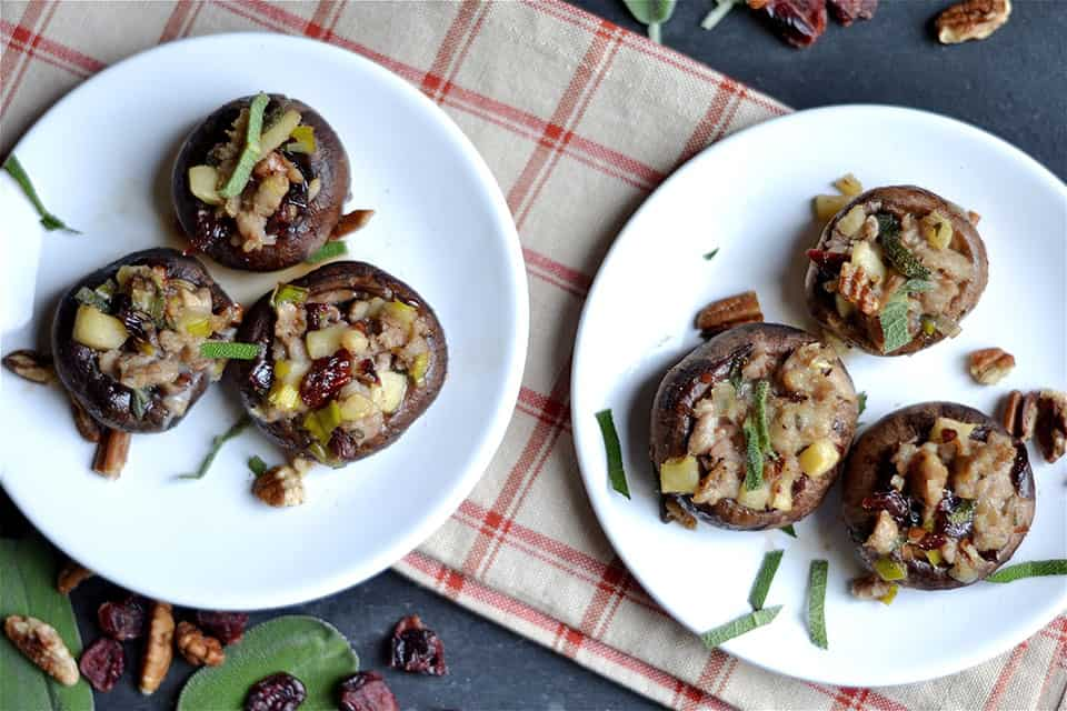 holiday appetizers sausage cranberry mushrooms