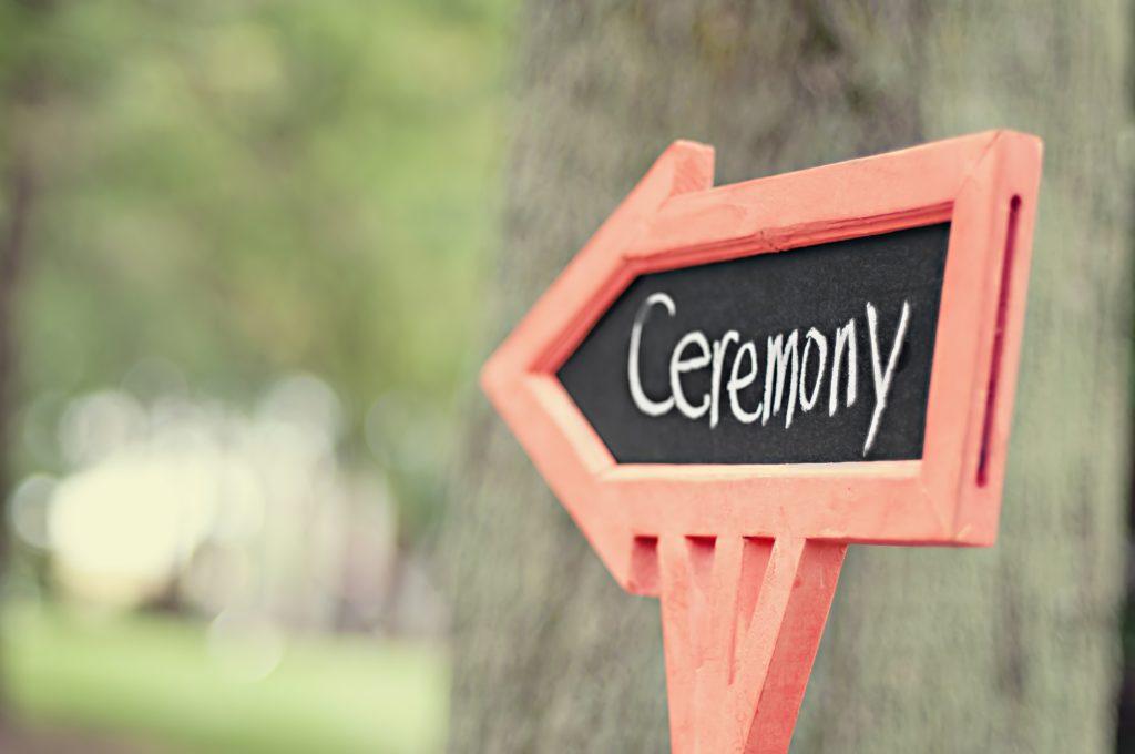 wedding planner coordinates the ceremony