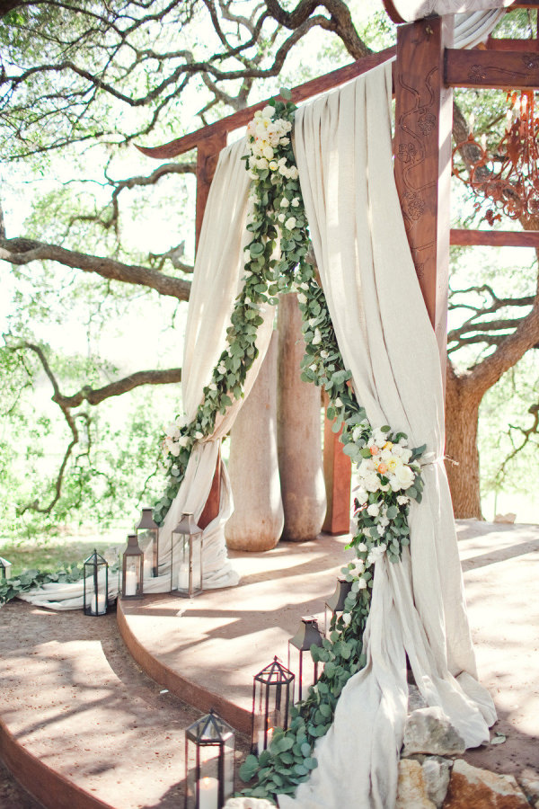 rustic wedding flower arch