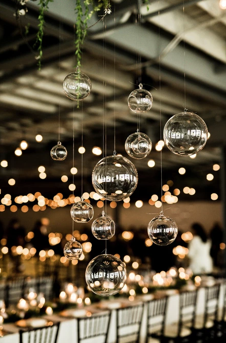 rustic weddings hanging glass