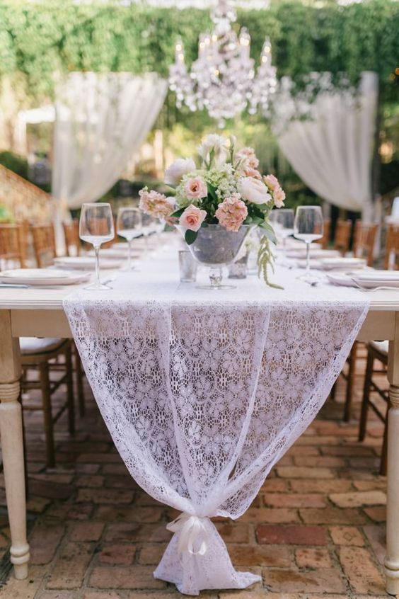 rustic wedding lace runner