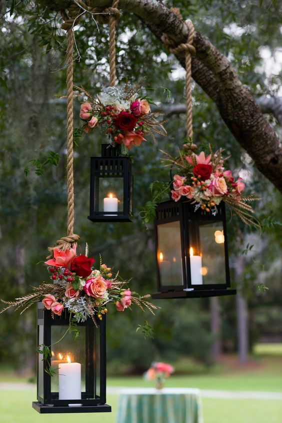 rustic wedding lanterns