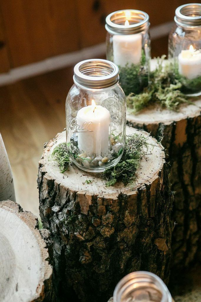 rustic wedding mason jars