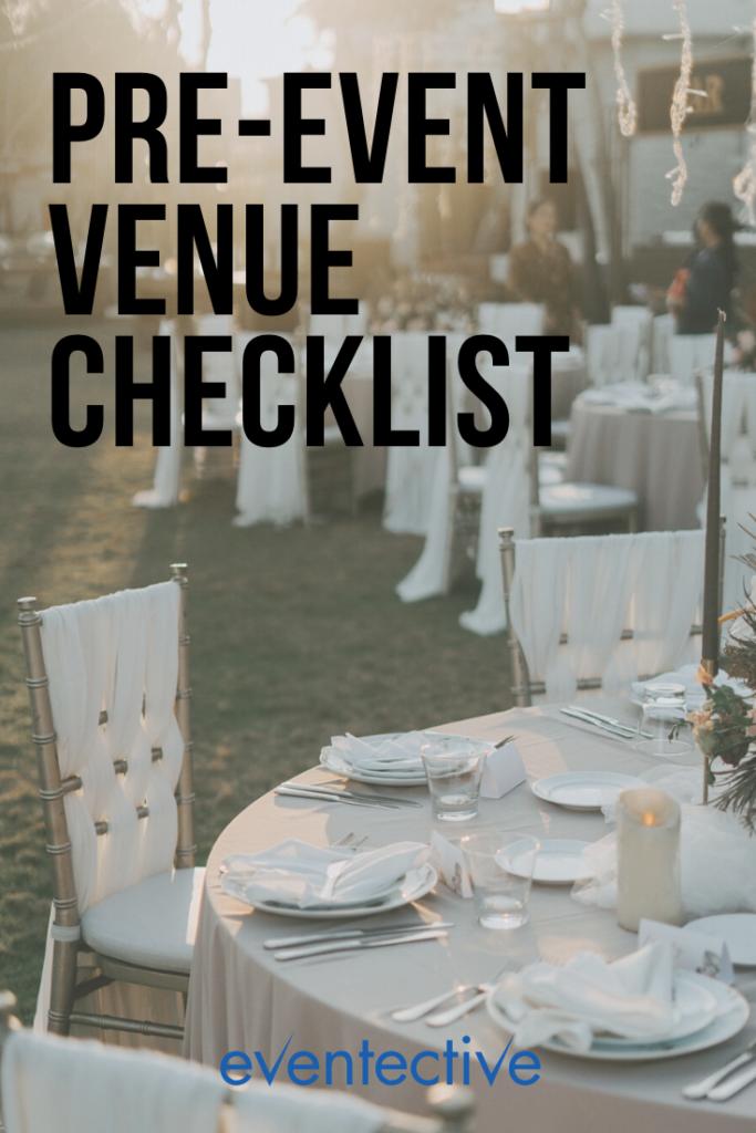 pre-event venue checklist