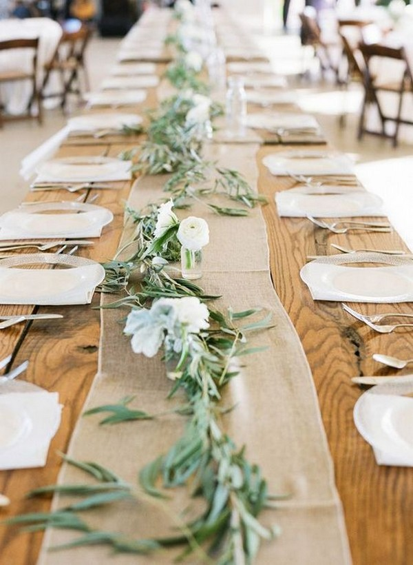 rustic wedding burlap runner