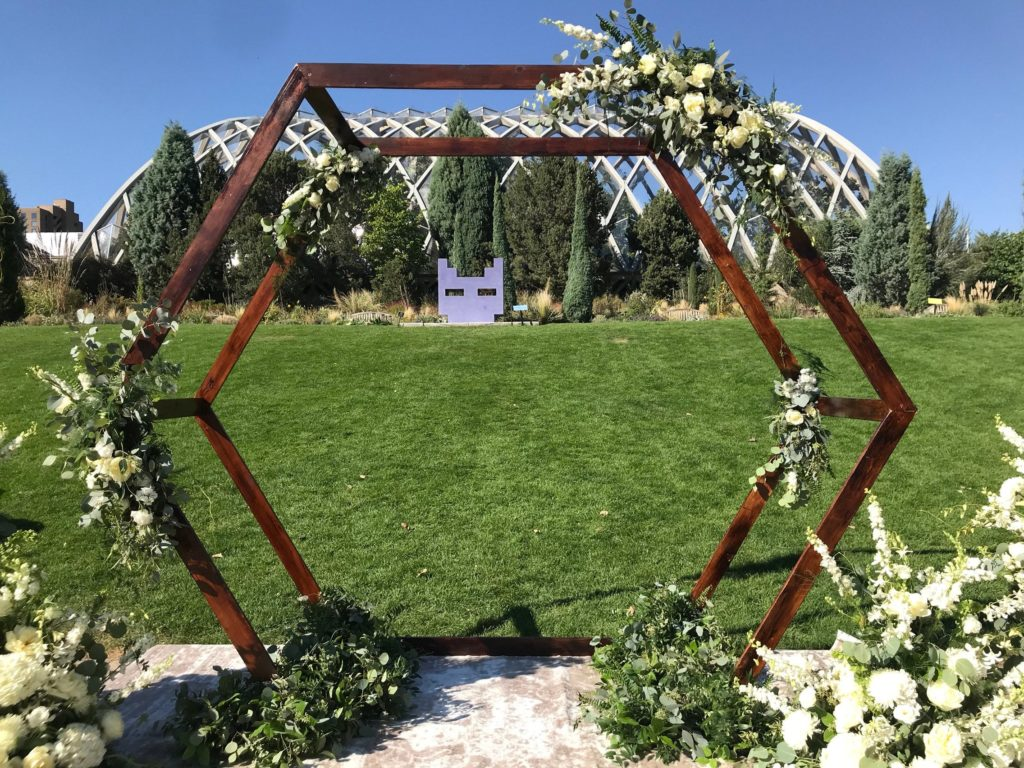 rustic wedding wooden arch