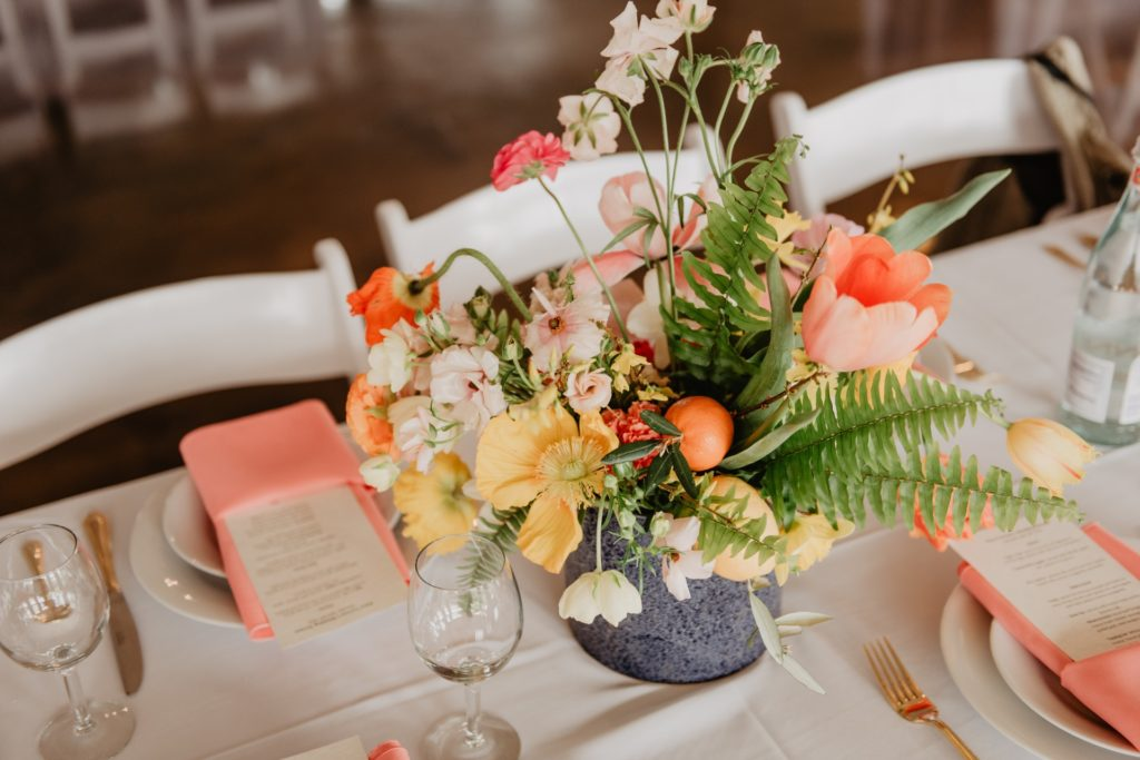 consider your favorites for wedding color palette