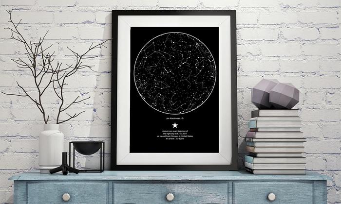 map of stars as flower alternatives