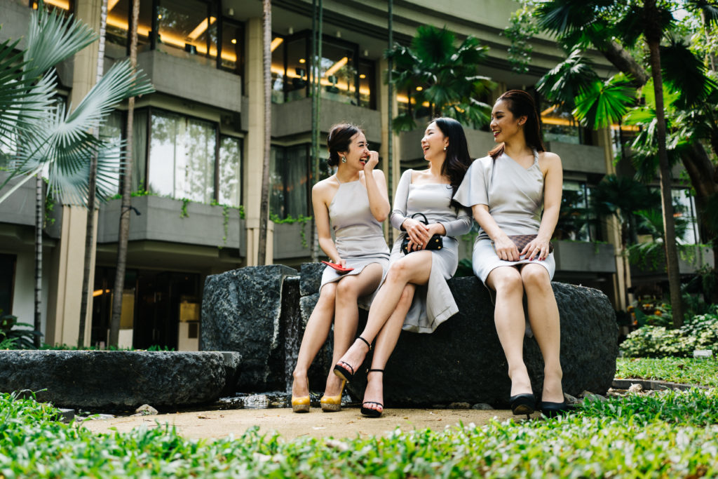 bridesmaid choose their dress for versatility