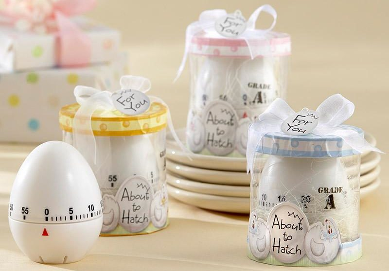 easter baby shower egg timer favors