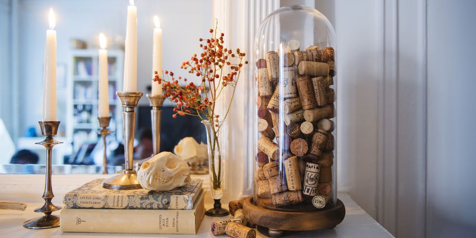 wine-themed cork decorations