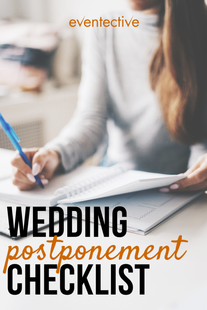 wedding postponement checklist