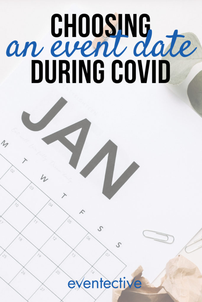 choosing an event date during COVID