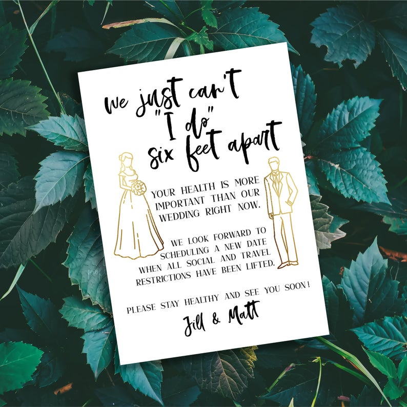 six feet apart change the date cards by dodidoodles via Etsy